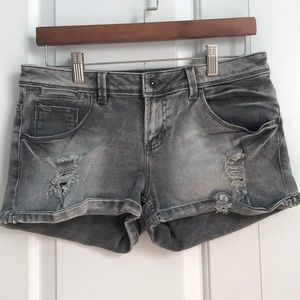 *Basic Short* Grey ripped denim short